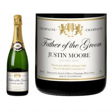 Authentic Wedding Personalised Champagne